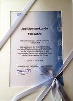 100 Jahre Wilh. Ströh jun GmbH & Co. KG
