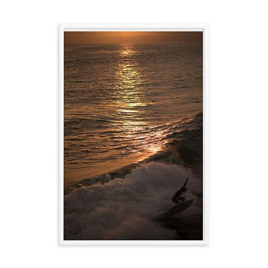 """""""Last Wave"""" Framed photo paper poster"""