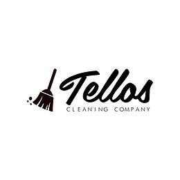 Tellos Cleaning Company black logo