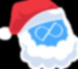 Pashia Designs logo wearing santa hat