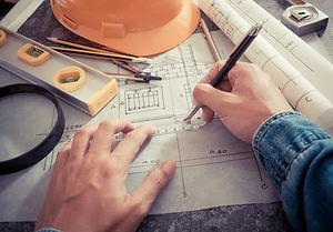 Architectural design and project bluepri
