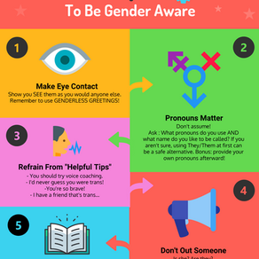 5 Tips to Be Gender Aware