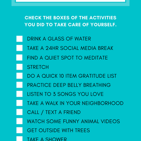 TAKE CARE OF YOURSELF - track it!