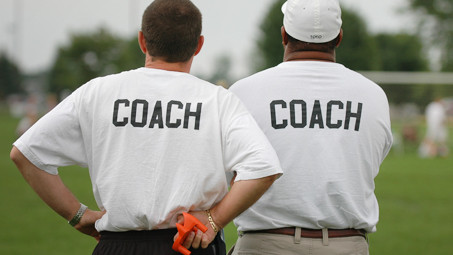 A coach instructs