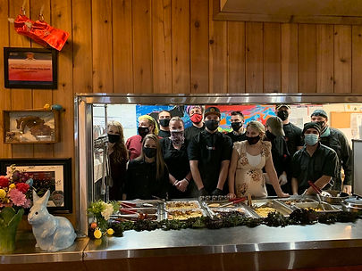 The restauarnt at Rhodes River Ranch staff masked.jpg