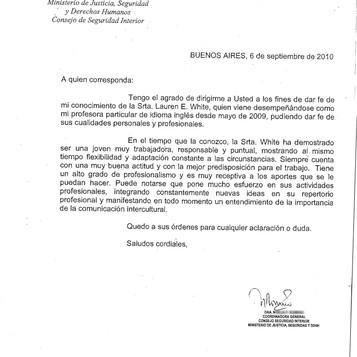 Ministerio Argentino
