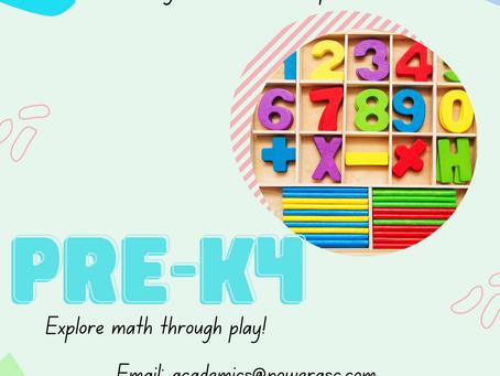 Pre-K4 Math Sessions