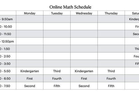 Online Math Schedule