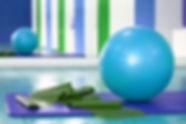 Stabilität Ball und Stretching Band