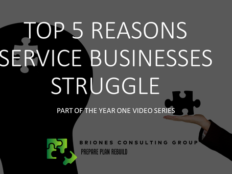 Top 5 Reasons Service Based Businesses Struggle