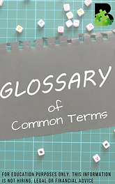 Glossary of Common Terms