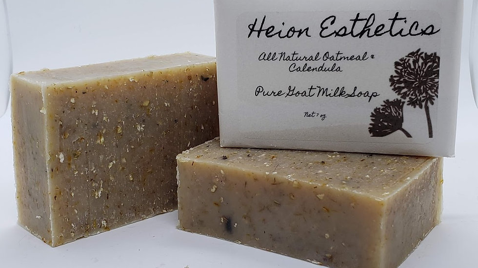All Natural Oatmeal & Calendula Goat Milk Soap