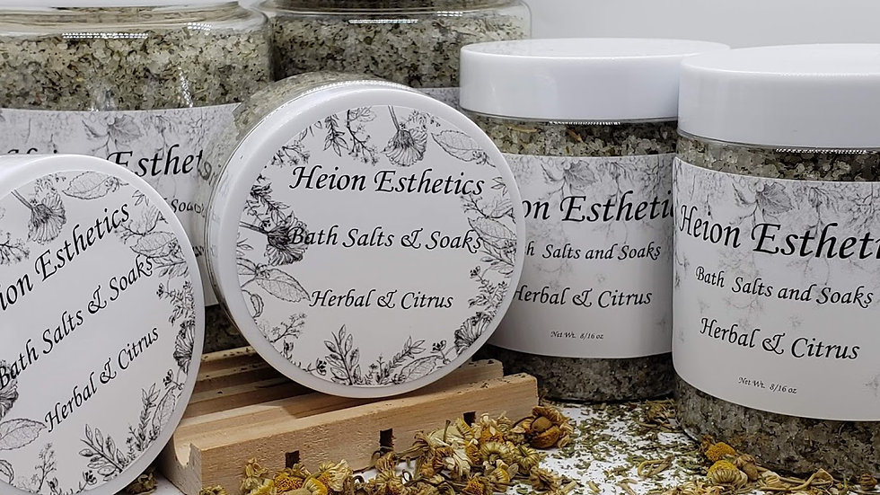 Herbal and Citrus Bath Salts and Soak