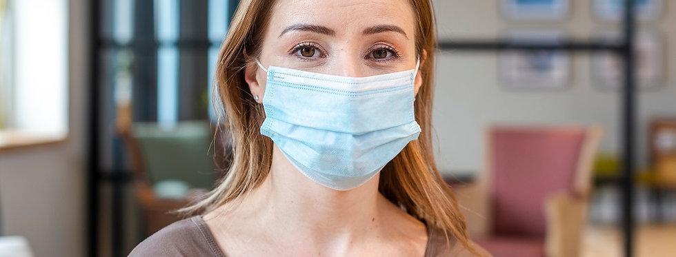 Mundschutzmaske 3-lagig DIN EN14683 Type 2 (zertifiziert)