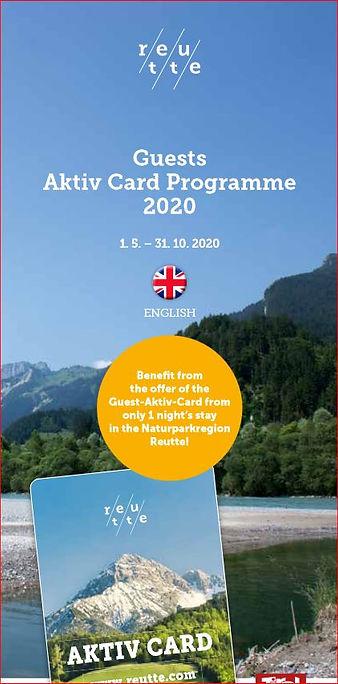 Aktiv Card 2020 Reutte