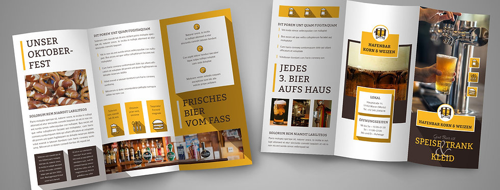 FLYER Wickelfalz Design