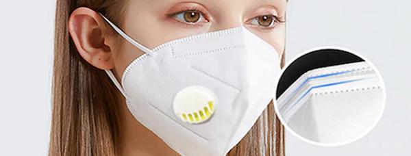 Mundschutzmaske KN95 mit Ventil (zertifiziert)