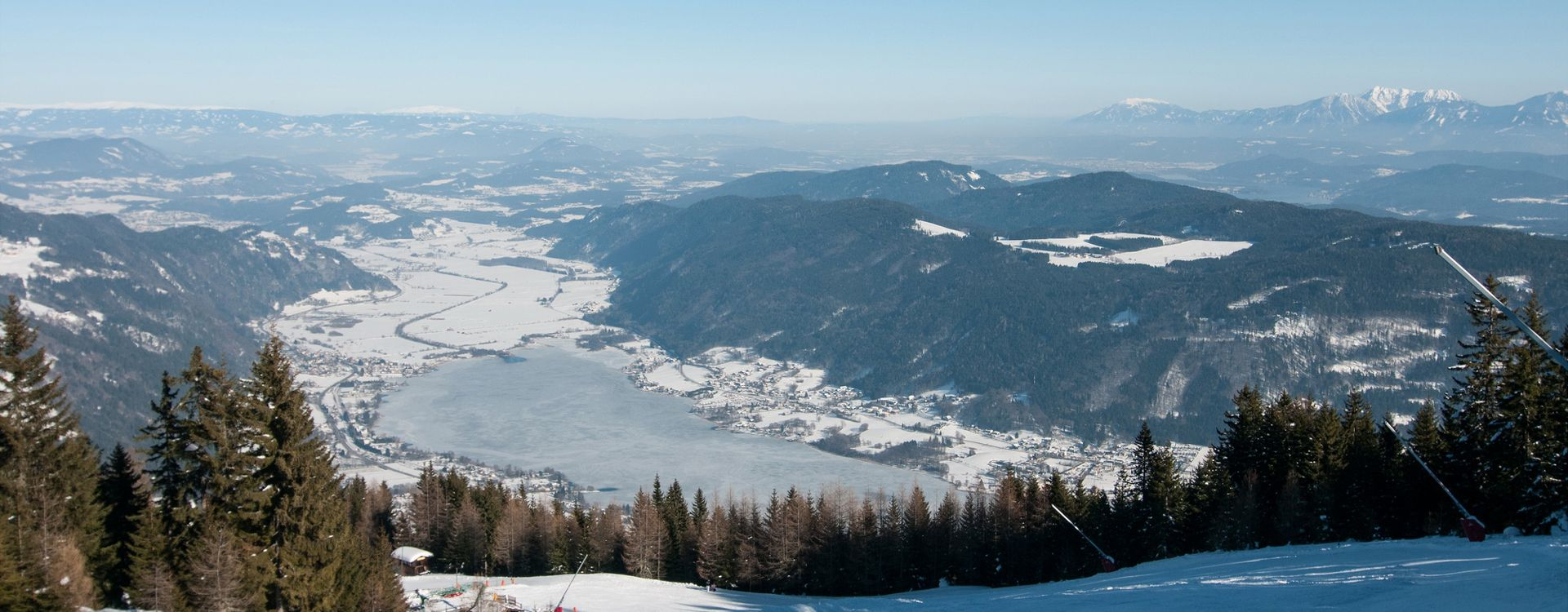 Winterpanorama Ossiachersee