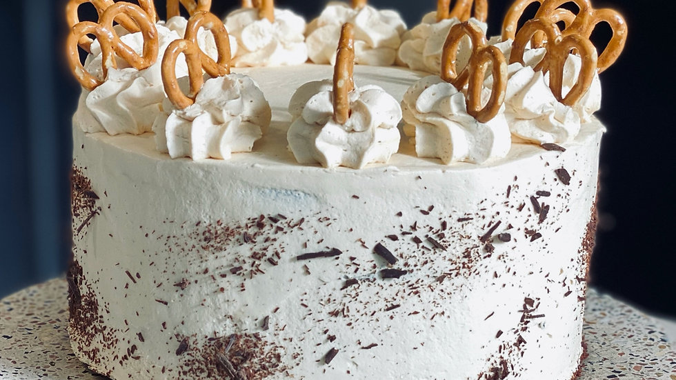 """Whole Salted Caramel and Pretzel Cake (6"""" and 8"""")"""