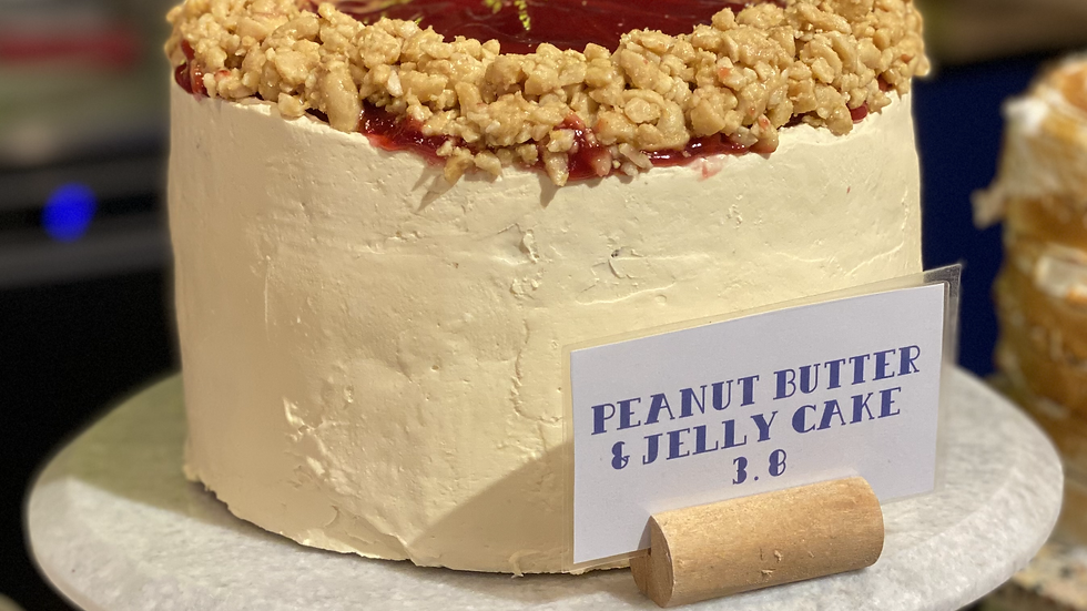 """Whole Peanut Butter and Jelly Cake (6"""" and 8"""")"""