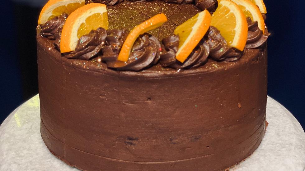 "Chocolate and Orange Cake (6"" and 8"")GF"
