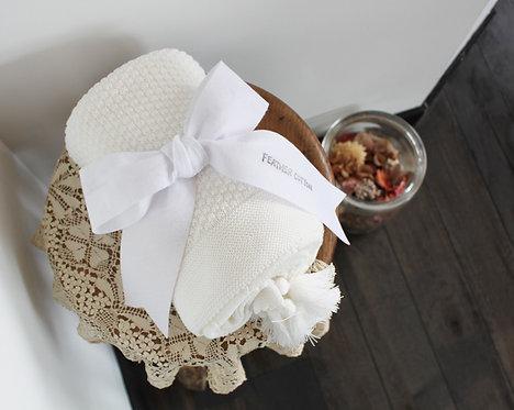 真っ白なブランケット gift01 white