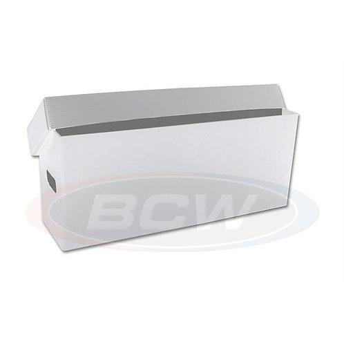 1 BCW Long Comic Book Storage Box - Plastic - White