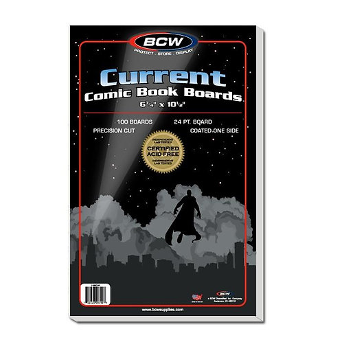 100 BCW CURRENT Comic Book Backing Boards