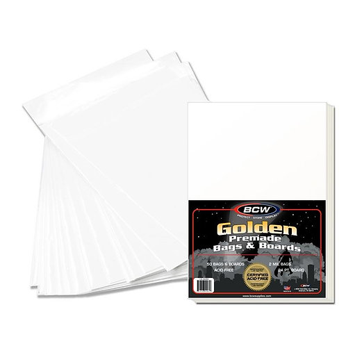 50 BCW Pre Assembled GOLDEN AGE bags and boards