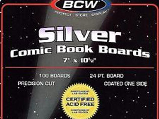 100 BCW Silver Age Comic Book Backing Boards - Acid Free Archival Protection