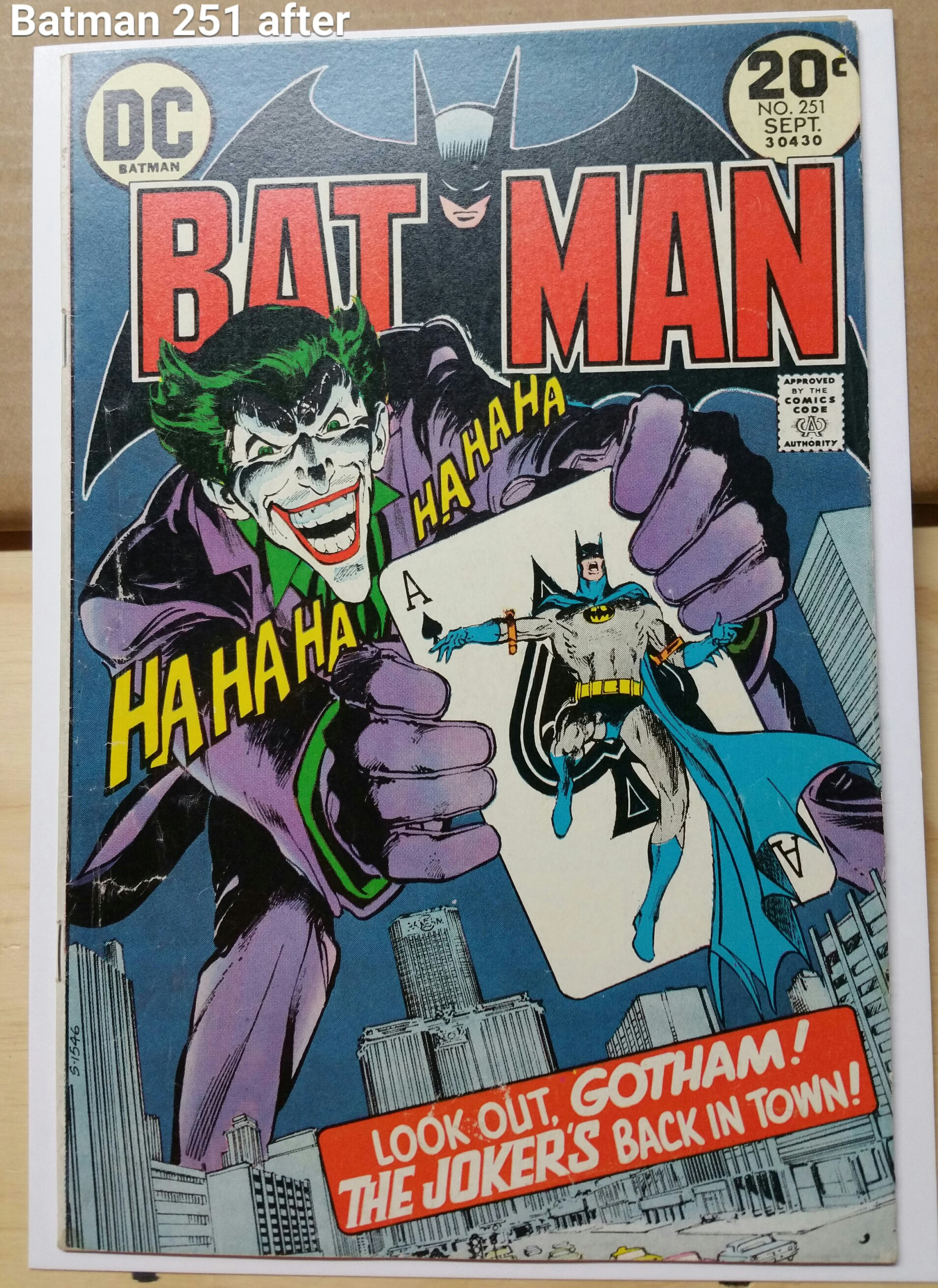 Batman 251 front after
