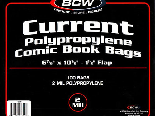 100 BCW Current/Modern Comic Book Bags
