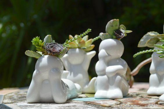 Mini People Planters 9- succulent planter - cactus planter - cacti - succulents - planters - gardeni