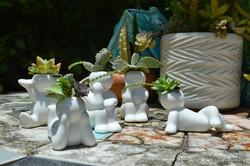 Mini People Planters 10- succulent planter - cactus planter - cacti - succulents - planters - garden