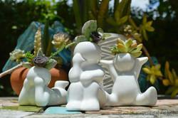Mini People Planters 11- succulent planter - cactus planter - cacti - succulents - planters - garden