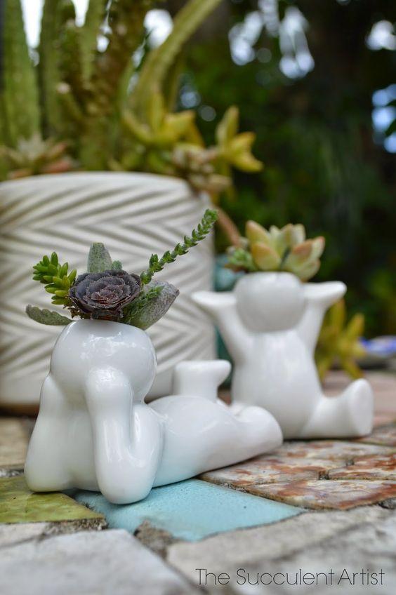 Mini People Planters 2- succulent planter - cactus planter - cacti - succulents - planters - gardeni