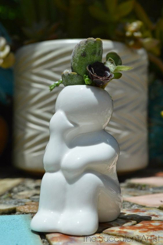 Mini People Planters 7- succulent planter - cactus planter - cacti - succulents - planters - gardeni