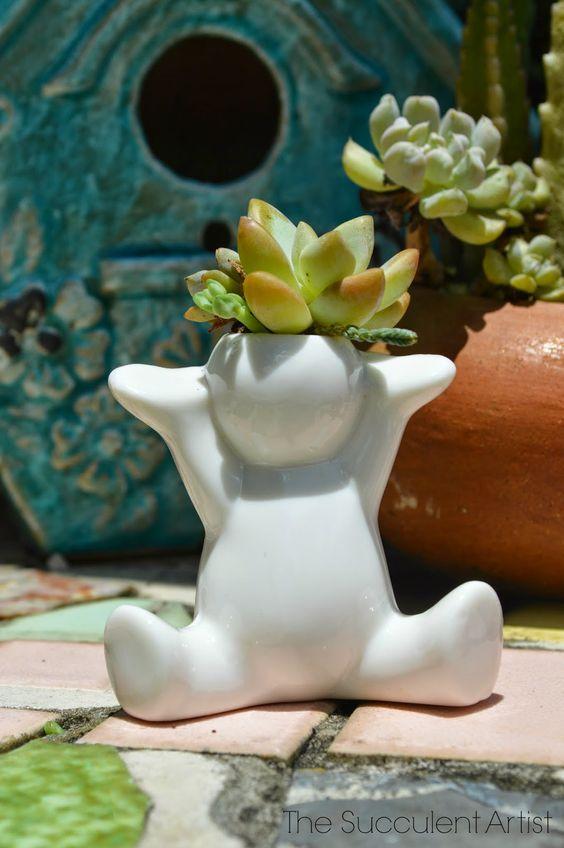 Mini People Planters 8- succulent planter - cactus planter - cacti - succulents - planters - gardeni