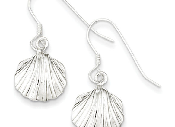 Sterling Silver Shell Earrings