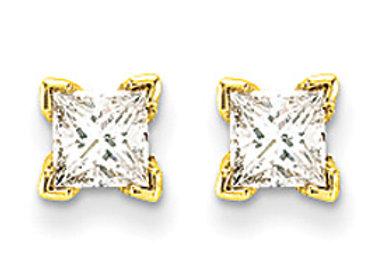 14k VS Quality Complete Princess Cut Diamond