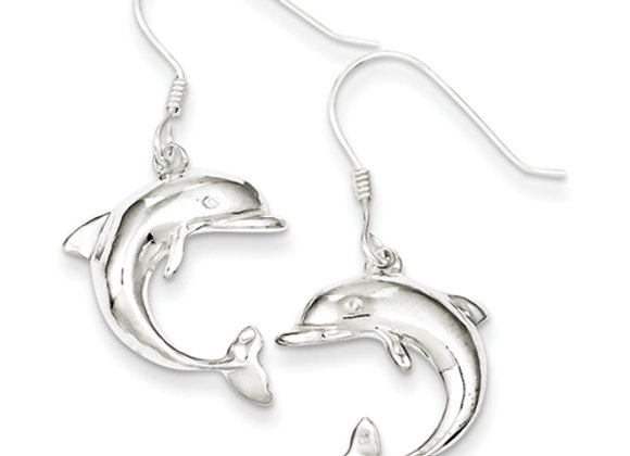 Sterling Silver Dolphin Earrings