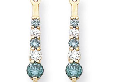 14k Blue Dia/AA Earring Jackets