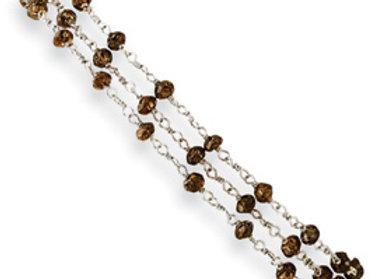 Chocolate Diamond Briolette Bracelet
