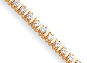 14k Moissanite Bracelet