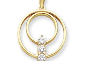 14k AAA Diamond Pendant