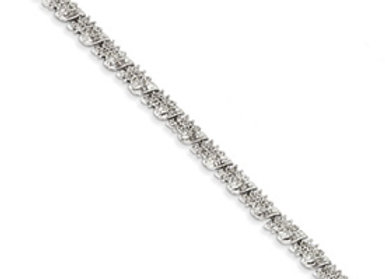 14k White Gold Diamond Fancy Bracelet