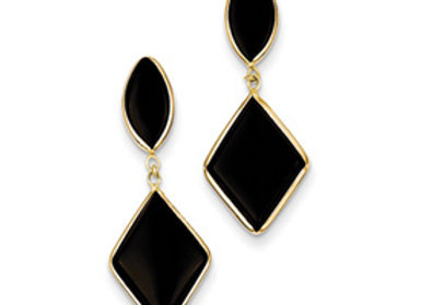 14k Onyx Dangle Earrings