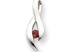 14k 3mm Garnet Pendant