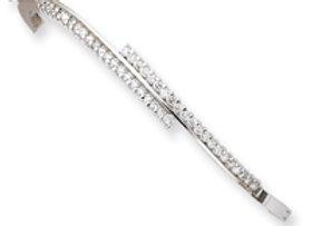 14k White Gold A Diamond Bangle
