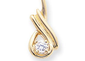 14k A Diamond Slide